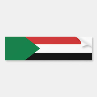 sudan country flag nation symbol bumper sticker
