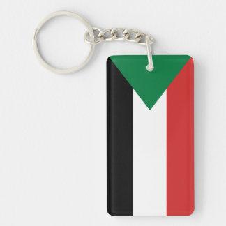 sudan country flag nation symbol Single-Sided rectangular acrylic key ring