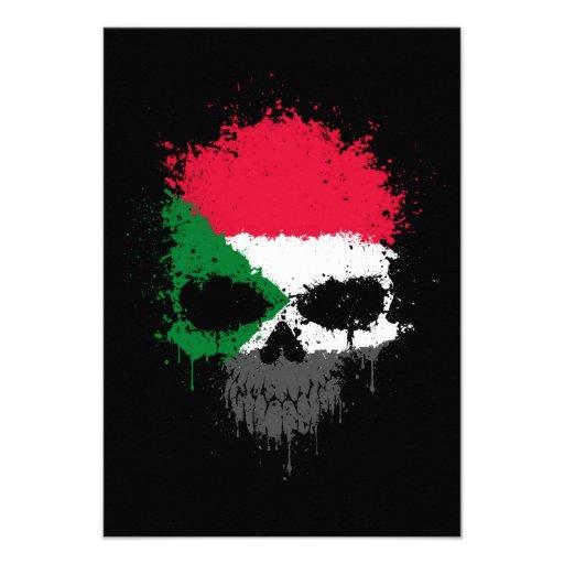 Sudan Dripping Splatter Skull Announcement