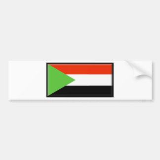 Sudan Flag Bumper Sticker