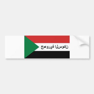 sudan flag country arab text name bumper sticker