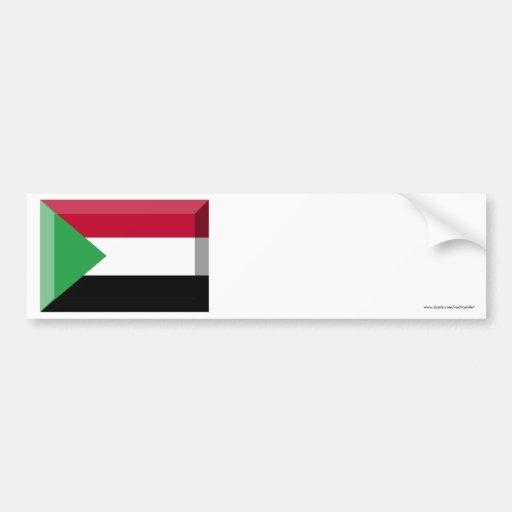 Sudan Flag Jewel Bumper Sticker