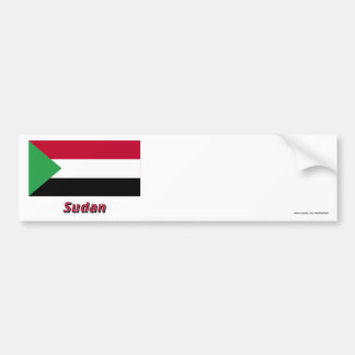Sudan Flag with Name Bumper Sticker