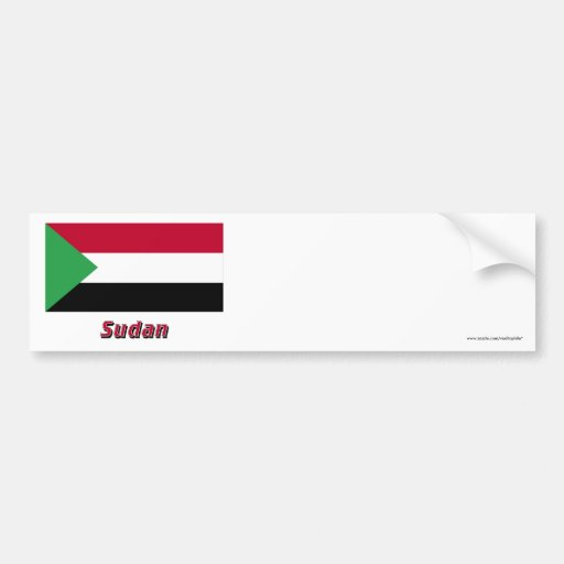 Sudan Flag with Name Bumper Stickers