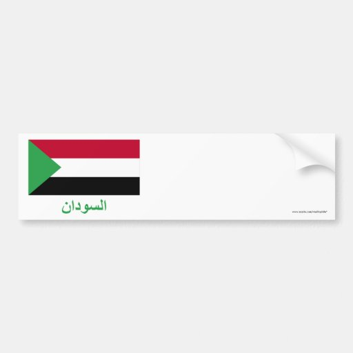 Sudan Flag with Name in Arabic Bumper Stickers