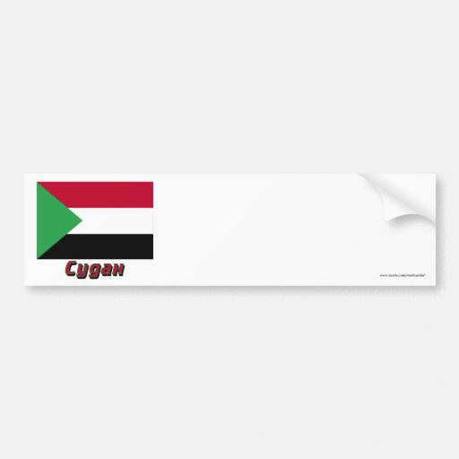 Sudan Flag with name in Russian Bumper Stickers