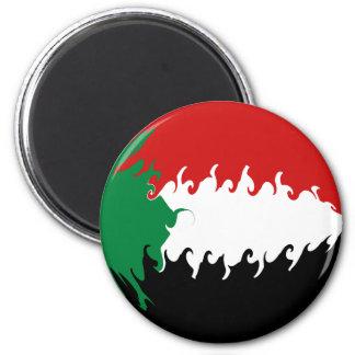 Sudan Gnarly Flag 6 Cm Round Magnet