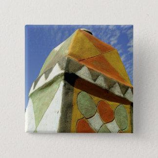 Sudan, North (Nubia), Decorated roof 15 Cm Square Badge