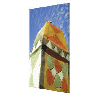 Sudan, North (Nubia), Decorated roof Stretched Canvas Print