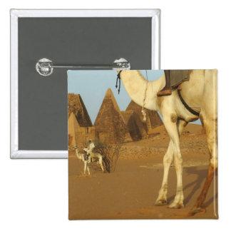 Sudan, North (Nubia), Meroe pyramids with 15 Cm Square Badge