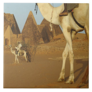 Sudan, North (Nubia), Meroe pyramids with Tile