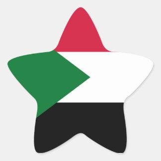 Sudan/Sudanese Flag Star Sticker