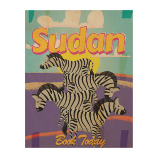 Sudan Vintage Travel Poster Wood Canvases