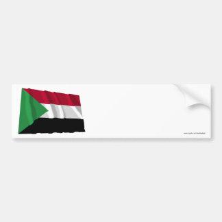Sudan Waving Flag Bumper Sticker