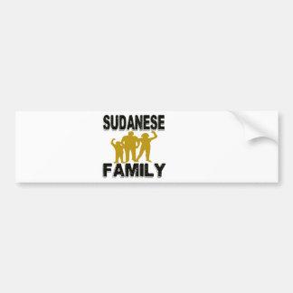 Sudanese Family Bumper Sticker