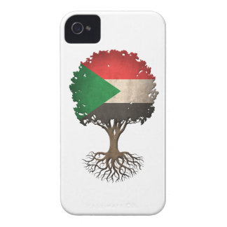 Sudanese Flag Tree of Life Customizable iPhone 4 Case-Mate Case