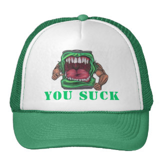 "sudatude's ""you suck"" hat"