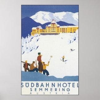 Sudbahn Hotel Semmering Austria Poster