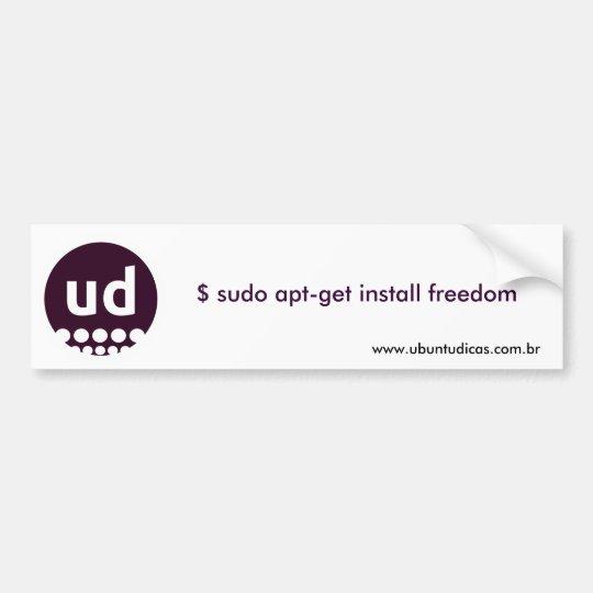 $ sudo apt-get install freedom bumper sticker