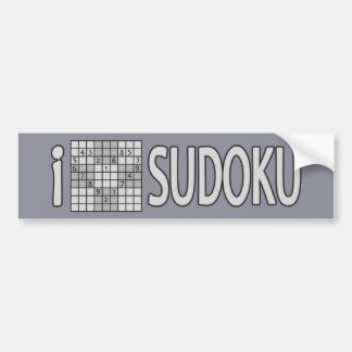 SUDOKU bumpersticker Bumper Sticker