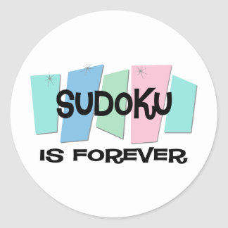 Sudoku Is Forever Round Stickers
