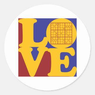 Sudoku Love Round Sticker