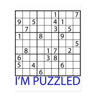 Sudoku Puzzle Postcard