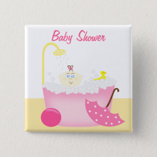 Sudsy Bathtub Pink Baby Girl Shower Pin