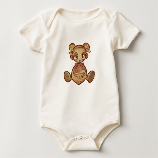 Sue Balloon girl Baby Bodysuit