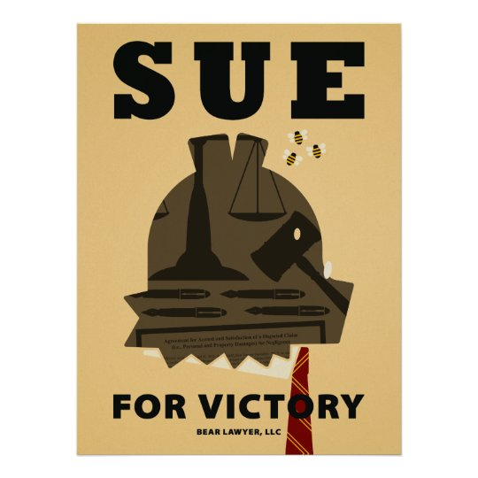 """Sue for Victory"" Poster"