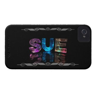 Sue - The Name Sue in 3D Lights (Photograph) Case-Mate iPhone 4 Cases
