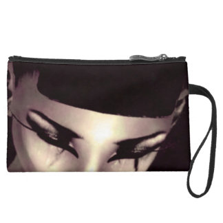 Suede Chic Wristlet-Glamour