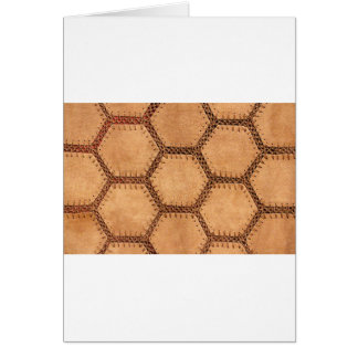 Suede fabric hexagon tan soft pattern greeting card
