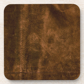 Suede Seam Look of Leather Drink Coasters
