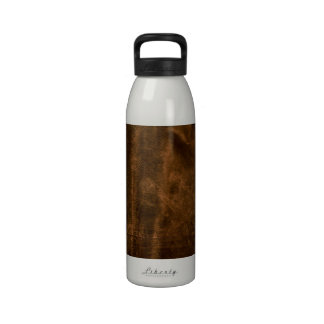 Suede Seam Look of Leather Drinking Bottle