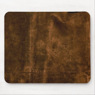 Suede Seam Look of Leather Mouse Pad