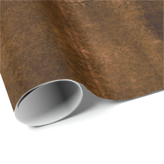 Suede Seam Look of Leather Wrapping Paper