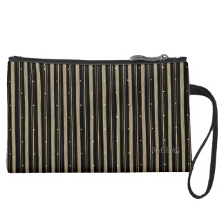 SUEDE-Stripes-Mink--Stylish-TRAVEL-Cosmetic-Bag's Wristlet