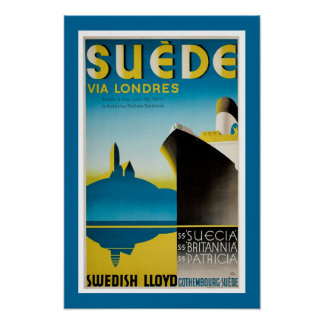 Suede via Londres Poster