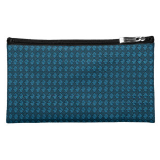 Sueded-Diamonds-Sea-Blue-Med-Cosmetics Makeup Bag