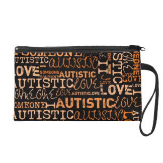SUEDED  I❤️ someone AUTISTIC  Mini Clutch Wristlet Clutches