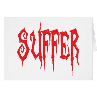 Suffer Card