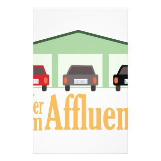 Suffer From Affluenza Stationery Paper