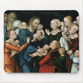 Suffer the Little Children to Come Unto Me, 1538 Mouse Mat