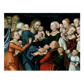 Suffer the Little Children to Come Unto Me, 1538 Postcard