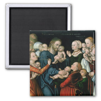 Suffer the Little Children to Come Unto Me, 1538 Square Magnet