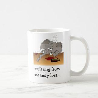 suffering from memory loss... basic white mug