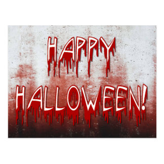 Suffering Happy Halloween Blood Stained Postcard