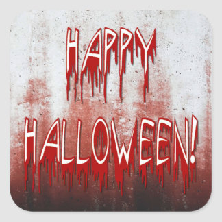 Suffering Happy Halloween Blood Stained Sticker Square Sticker