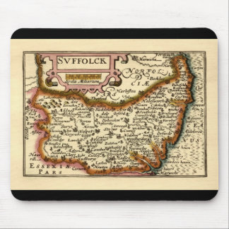 """Suffolck"" Suffolk County Map Mouse Mat"